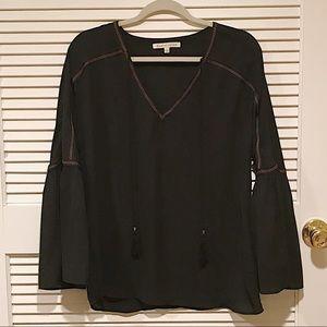 Black tassel blouse